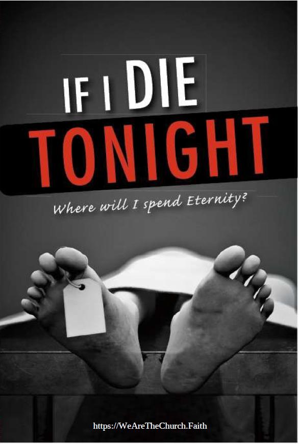 Online Gospel Tract If I Die Tonight